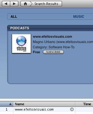 Efeitos Visuais no iPod e iTunes