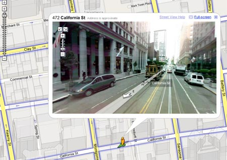 Google Maps - street view