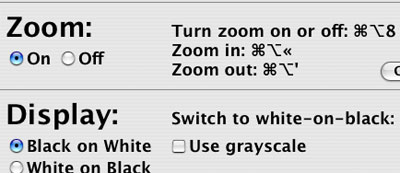 MacOS X Tiger Zoom