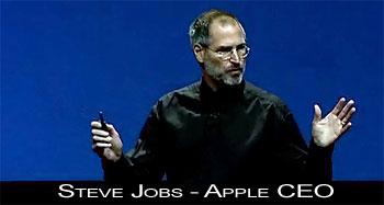 Steve Jobs, CEO Apple - its showtime - novidades iPod e iTunes